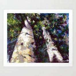 Looking Up! Art Print