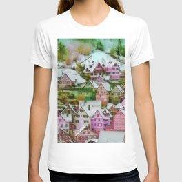 Rustic winter scene C T-shirt