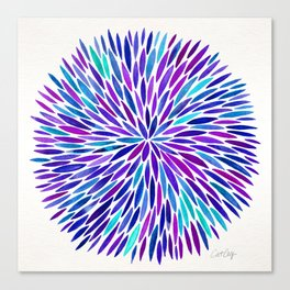 Lavender Burst Canvas Print