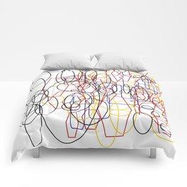 Geometric white ing Comforters
