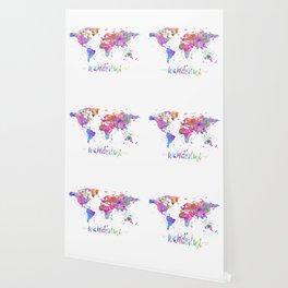 Wanderlust World Map Wallpaper