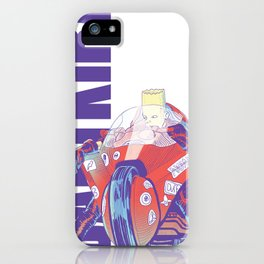 Red Motorcylce Rider iPhone Case