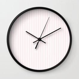 Light Soft Pastel Pink and White Mattress Ticking Wall Clock