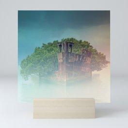 Shipwreck in the Mist Mini Art Print