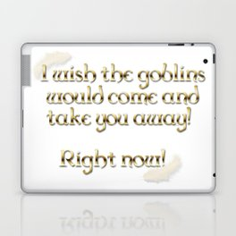 Goblins Take You Away (White) Laptop & iPad Skin