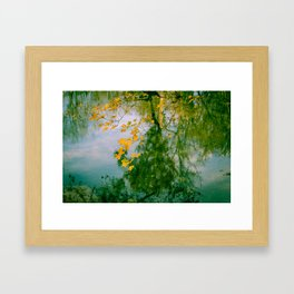 Nature Abstract in Autumn Framed Art Print