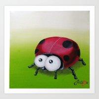 Ladybug Mug Art Print