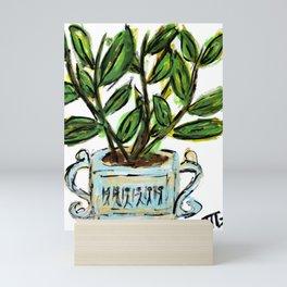 """The Golden Rubber Fig"" Mini Art Print"