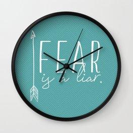 Fear, is a liar. Wall Clock