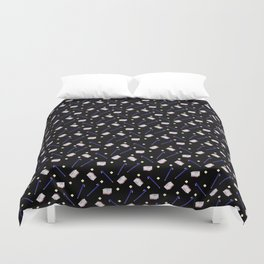 Flowers Crowbar and Sixpack Duvet Cover