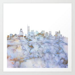 Boston Skyline Massachusetts Art Print