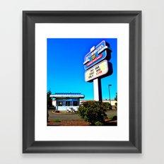 Best Burgers Drive-In Framed Art Print