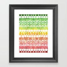 One Love Tribal {white} Framed Art Print
