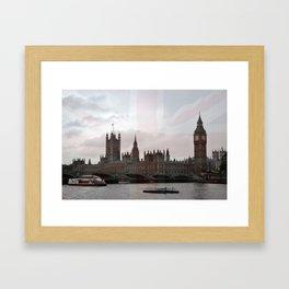 London River Scene Framed Art Print