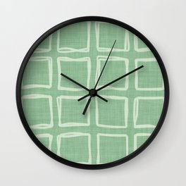 vintage fantasy striped squares Wall Clock