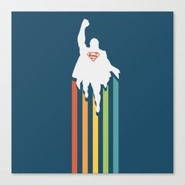 Superman - Man of steel Canvas Print