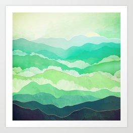 Emerald Spring Art Print