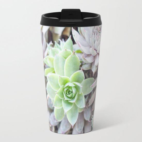 Sea of Succulents Travel Mug
