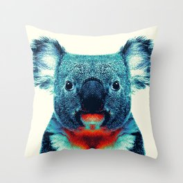 Koala - Colorful Animals Throw Pillow