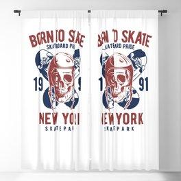 Born to Skate Blackout Curtain
