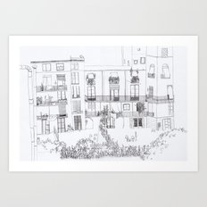 Algún lloc aprop del carrer Comtal Art Print