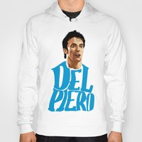 juventus Hoodies featuring Del Piero Name Blue by Sport_Designs