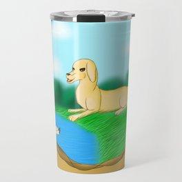 The Golden Hunter Travel Mug