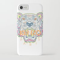 kenzo iPhone & iPod Cases featuring KENZO Tiger by cvrcak