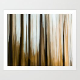 Abstract forest - nature landscape photography woods orange sunset wallpaper artwork painting Art Print