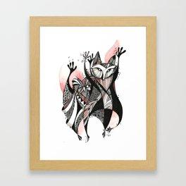 animal dance Framed Art Print
