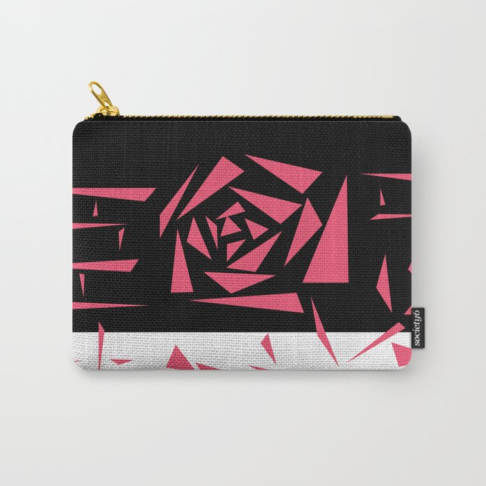 Abstract rose. black and white red . Carry-All Pouch