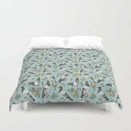 Pigeons, Apricots, and Thyme Duvet Cover