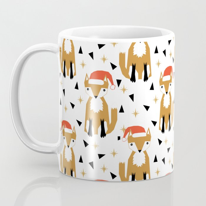Festive Christmas Fox kids pattern woodland winter geometric fox ...