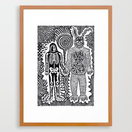 I was in a skeleton suit holding your hand... then I woke up / In honour of Donnie Darko Framed Art Print