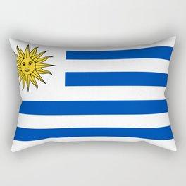 flag of Uruguay-Uruguyan,montevideo,spanish,america,latine,Salto,south america,paysandu,costa,sun,be Rectangular Pillow