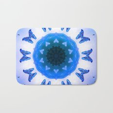 All things with wings (blue) Bath Mat
