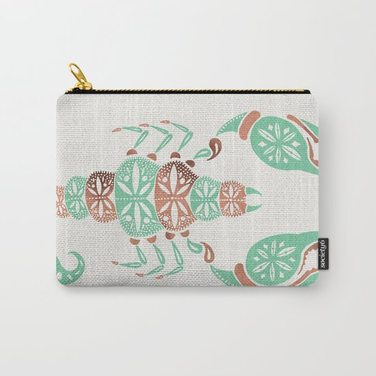 Scorpion – Mint & Rose Gold Carry-All Pouch