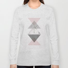 Triangle pattern modern geometric abstract Long Sleeve T-shirt