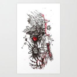 Porcupine Murder Art Print