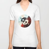 ying yang V-neck T-shirts featuring Ying-Yang Blue Version by Luis Pinto