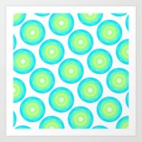 geo Art Prints featuring Geo by Anchobee