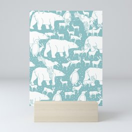 Polar gathering (peppermint) Mini Art Print