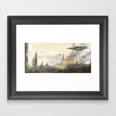 Under Attack  Framed Art Print