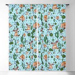 Cute Desert and Fennec Fox Pattern Blackout Curtain