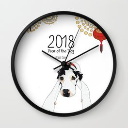 Year of the Dog - Great Dane Wall Clock