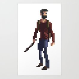 Joel The last of us Art Print