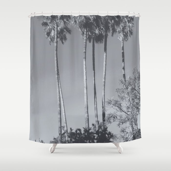 Beautiful Vintage Palms Society6 Beach Shower Curtain By Aeontextiles