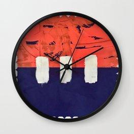 Stitch in Time - diamond graphic Wall Clock