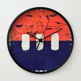 Stitch in Time - diamond graphic Wall Clock