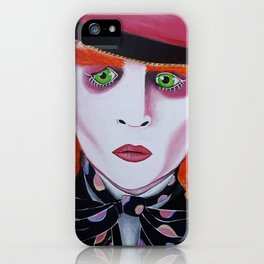 Mad Hatter Painting iPhone Case